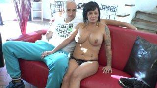 Couple libertin et exhib de Marseille dans un casting porno amateur