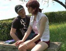 sexe anal en plein air avec une jeune etudiante