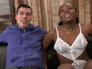 Ejac dans la bouche d'une black après une sodo orgasmique