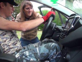 sexe torride avec une vendeuse de camping car