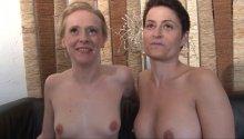 Cunni, sodo et douche de sperme pour Angie et Amélie!