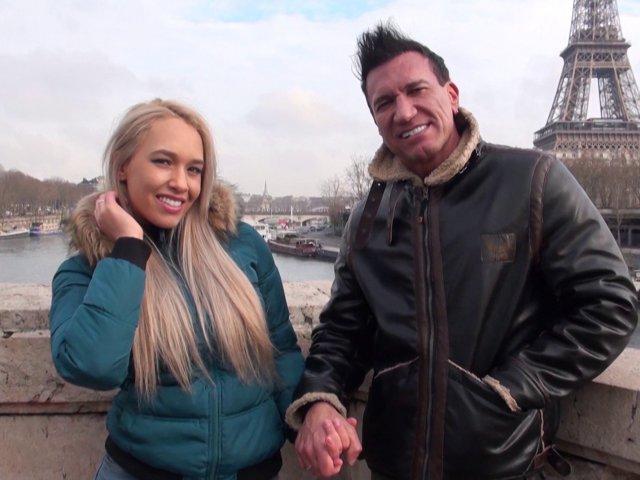 Sextape d'un vrai couple en voyage de noce à paris - סרטי סקס