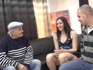Trio exceptionnel: lana rencontre papy pour la première fois!