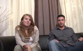 Samantha et Ludo, deux fans de sexe, sont venus nous rendre visite pour qu'on les filme pour leur premier porno