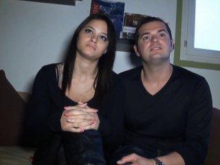 Casting d'un jeune couple exhibe qui veut se montrer