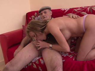 papy pervers baise une pouliche blonde