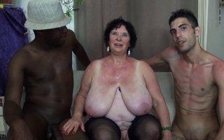 Olga, mamie obèse 65 ans aux seins énormes défoncée par des lascars