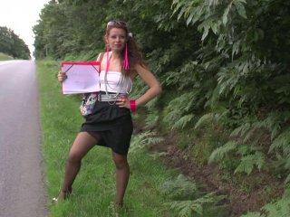 Une salope nymphomane de l'autoroute A71